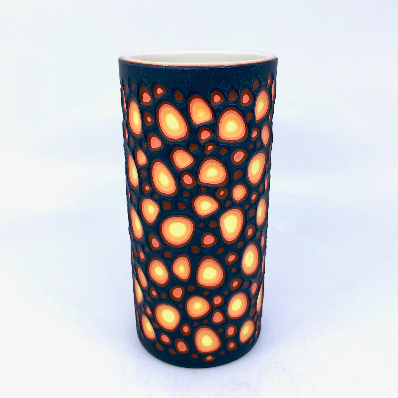 Lava Craters 5-Layer Medium Column Vase