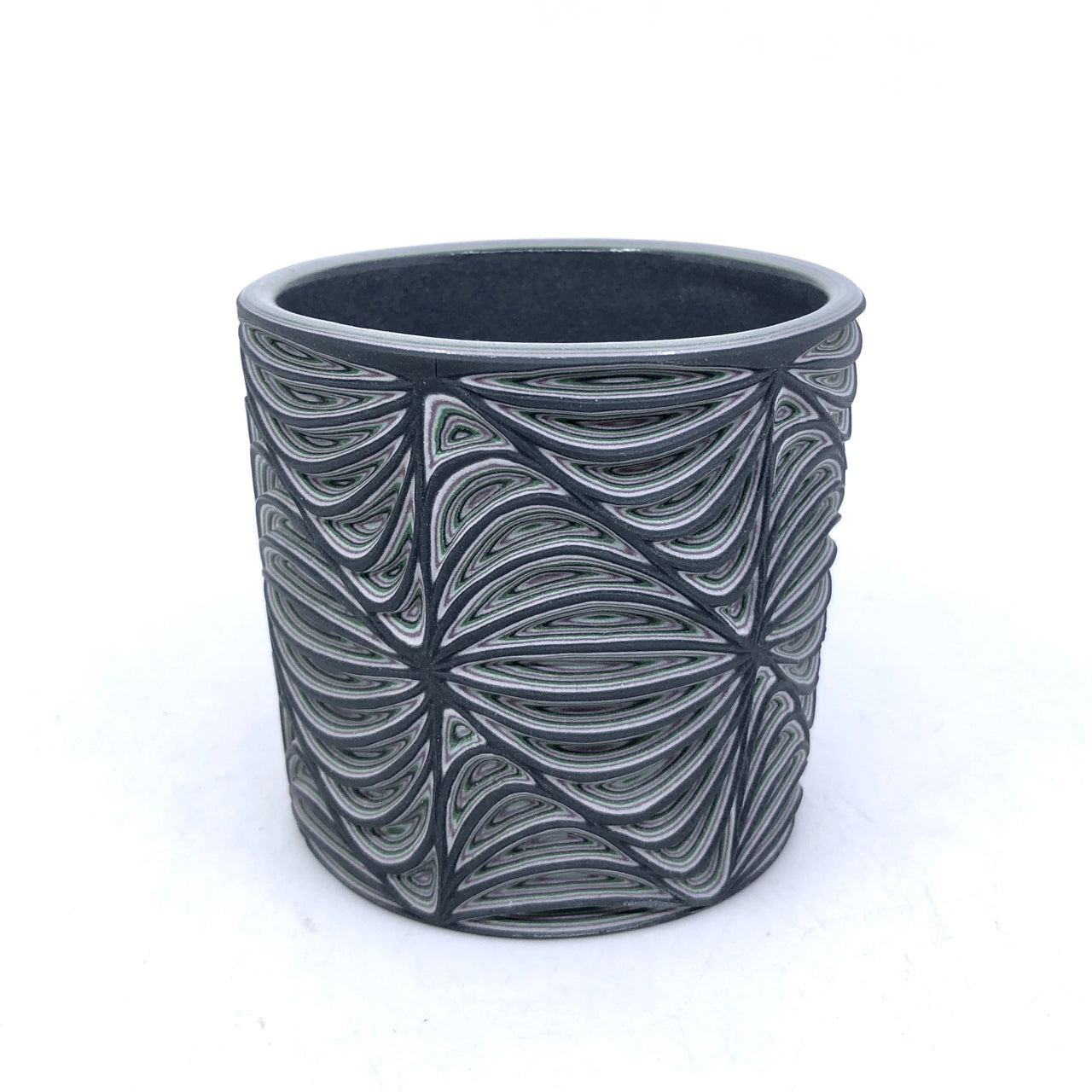 *Preorder* 5 layer Black Malachite Soundwaves Carved Tumbler