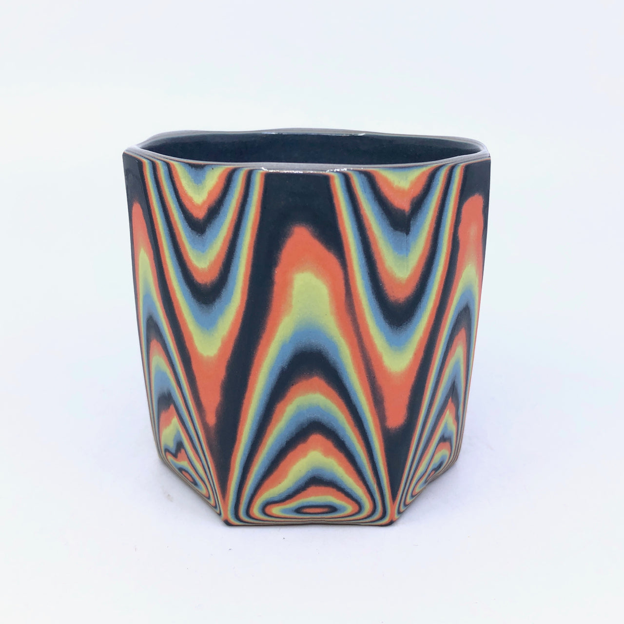 Black Neon Layered Faceted Tumbler