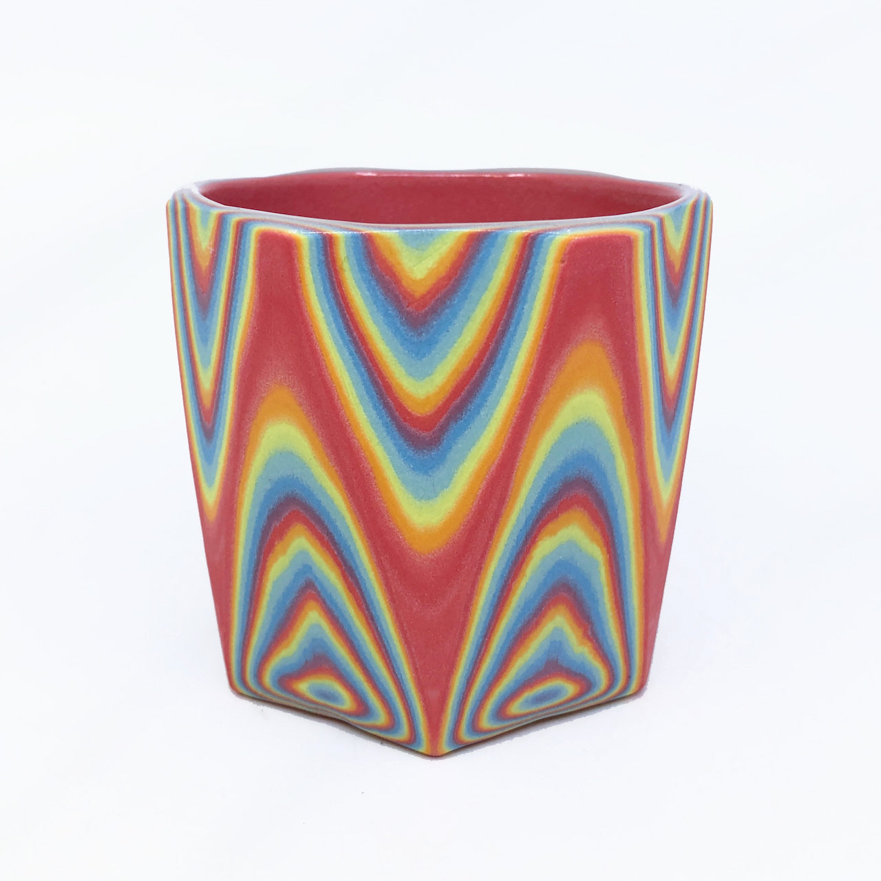 Rainbow 29 Layer Faceted Tumbler (6 sided)