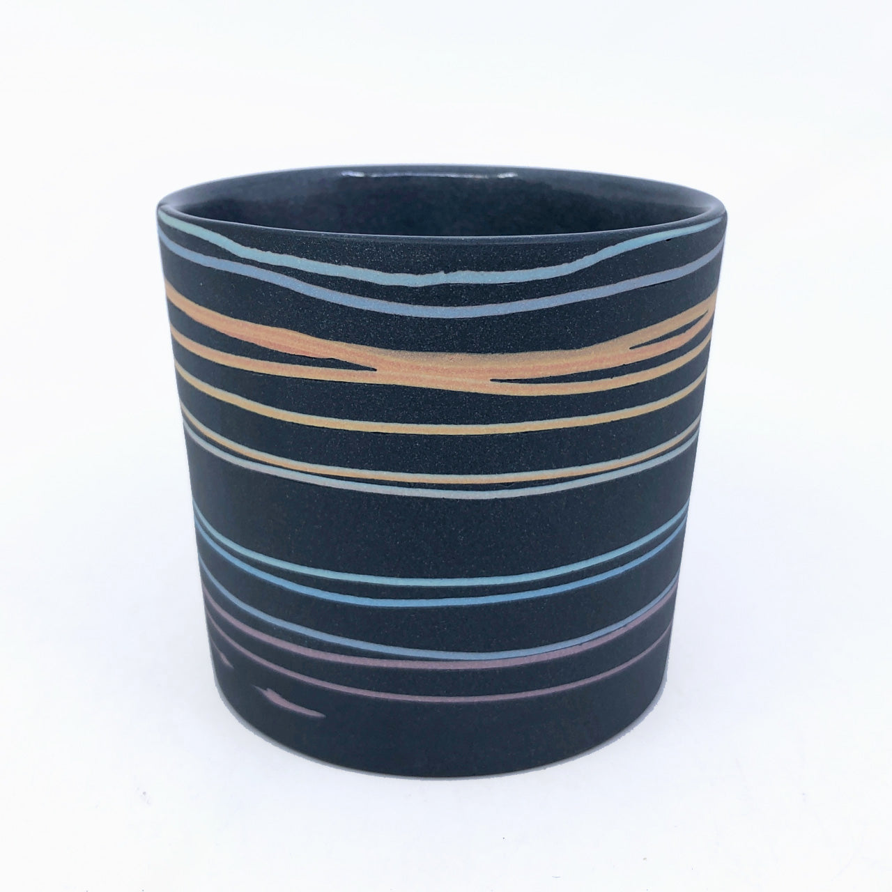 Black Rainbow Line Gradient Tumbler