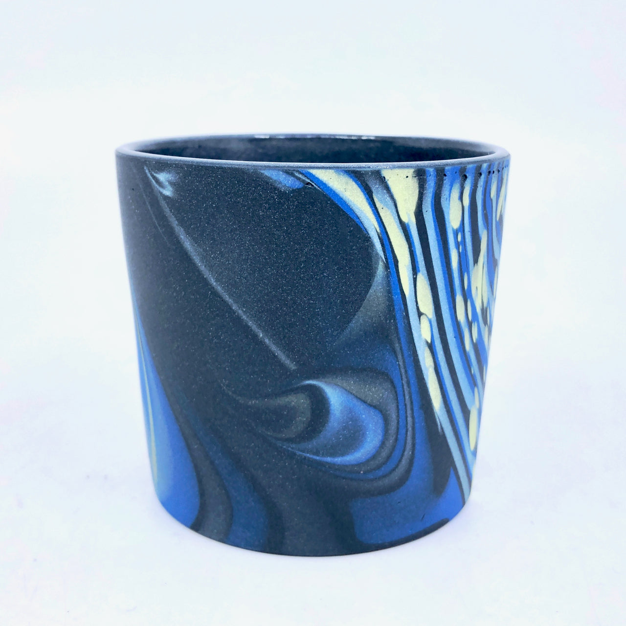 Black & Royal 1/2 Dappled Tumbler