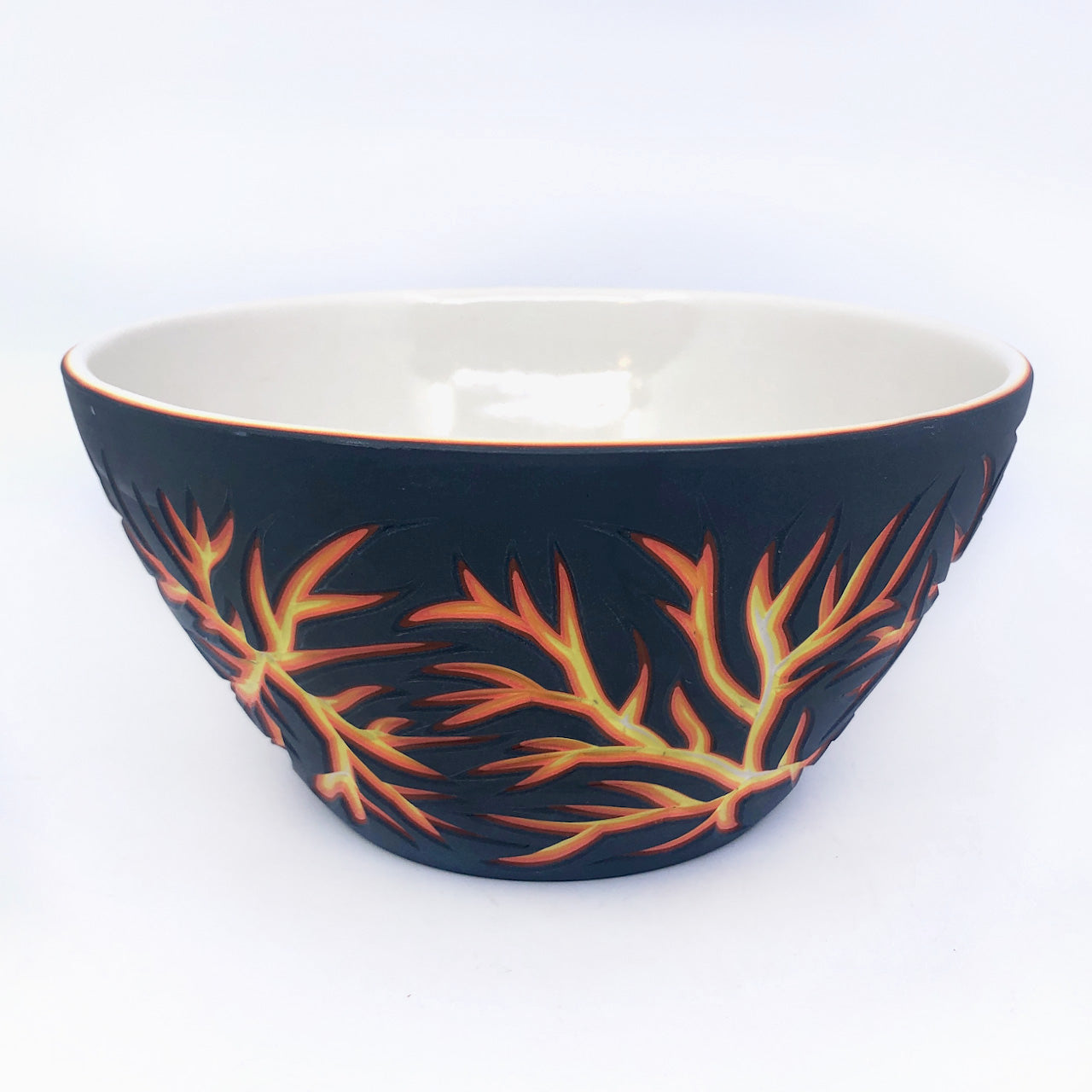 Lava Dendrites 6-Layer Carved Serving Bowl