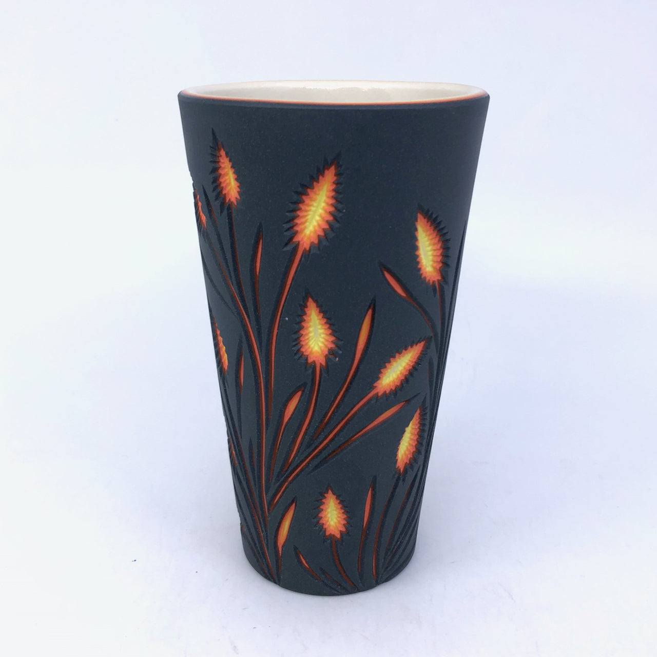 Lava Botanical Carved 6-Layer Pint