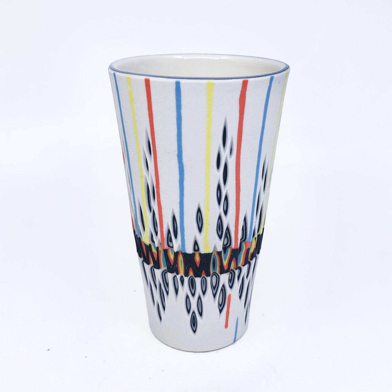 Carved Rainbow Drip Hybrid Inlay Pint