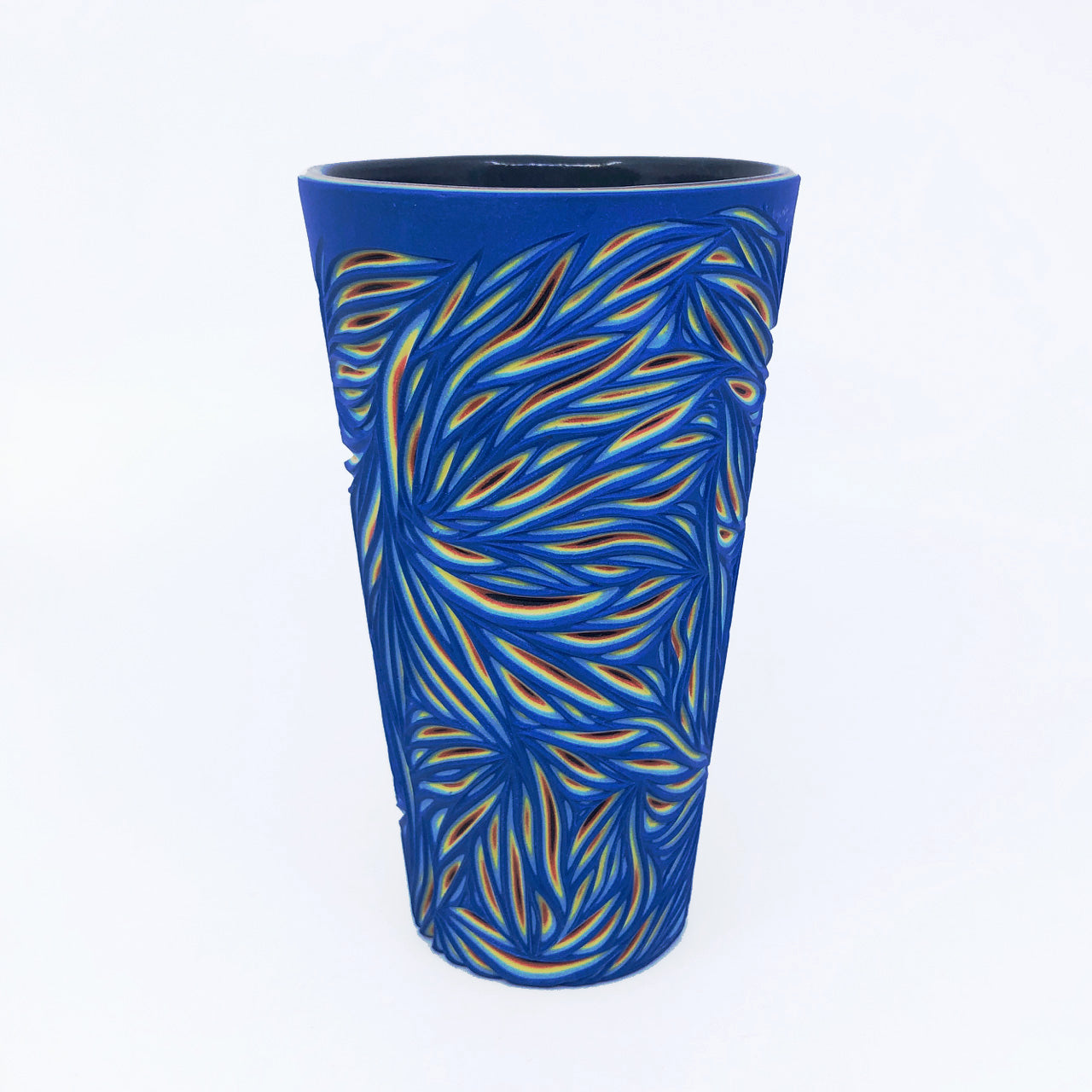 Royal Blue Intricate 5-Layer Carved Pint