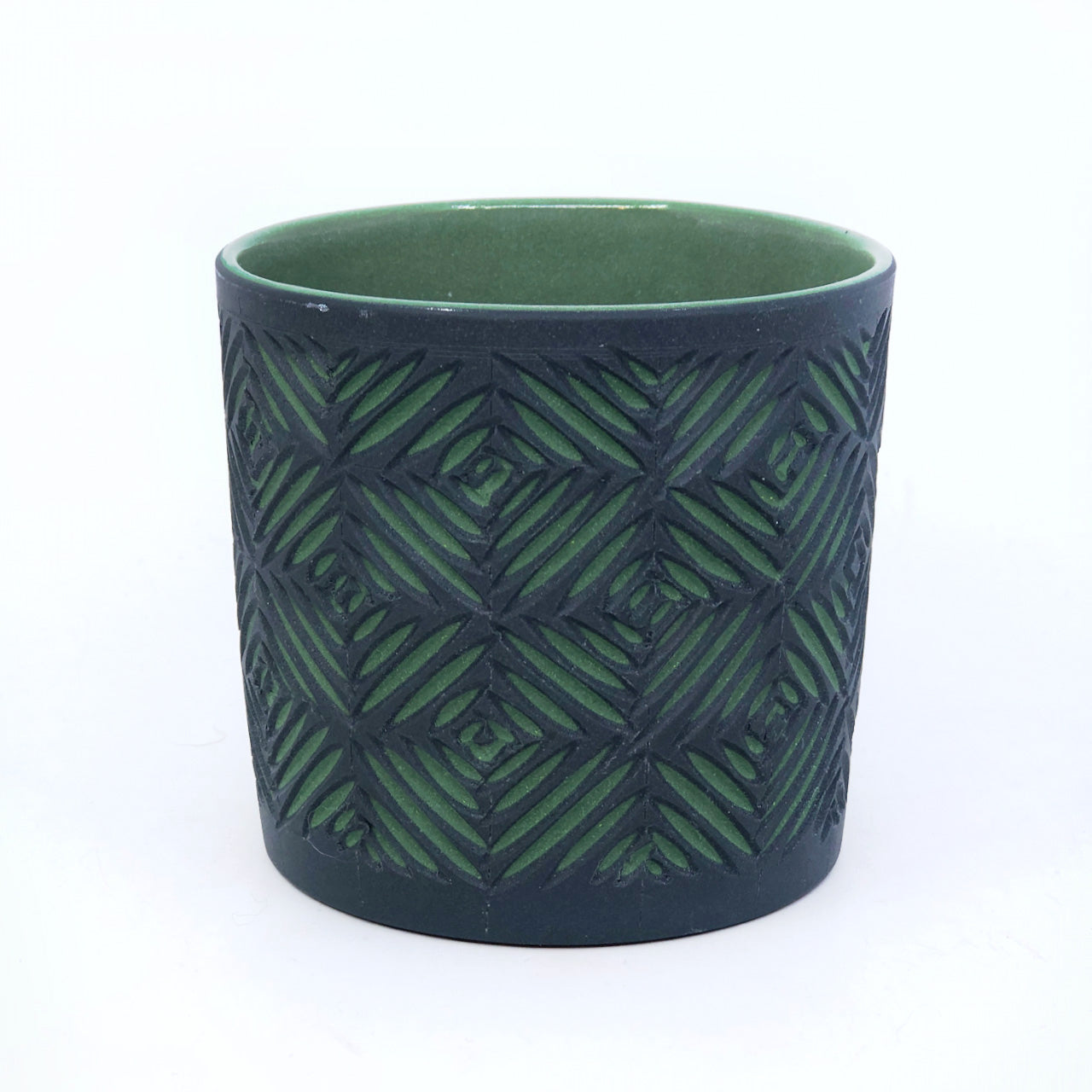 Black & Forest Crosshatch 2-Layer Carved Tumbler