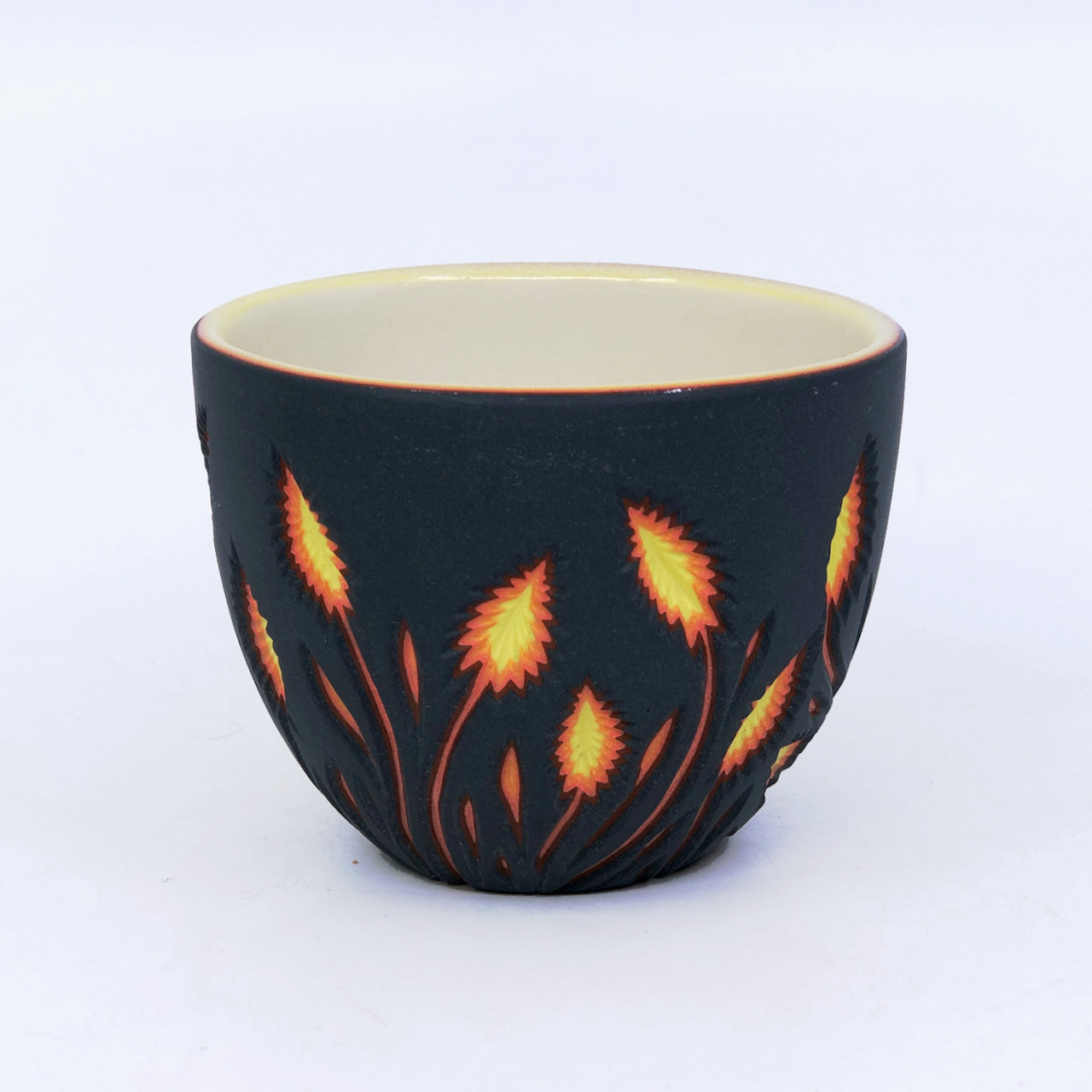 Lava Botanical Carved Teacup