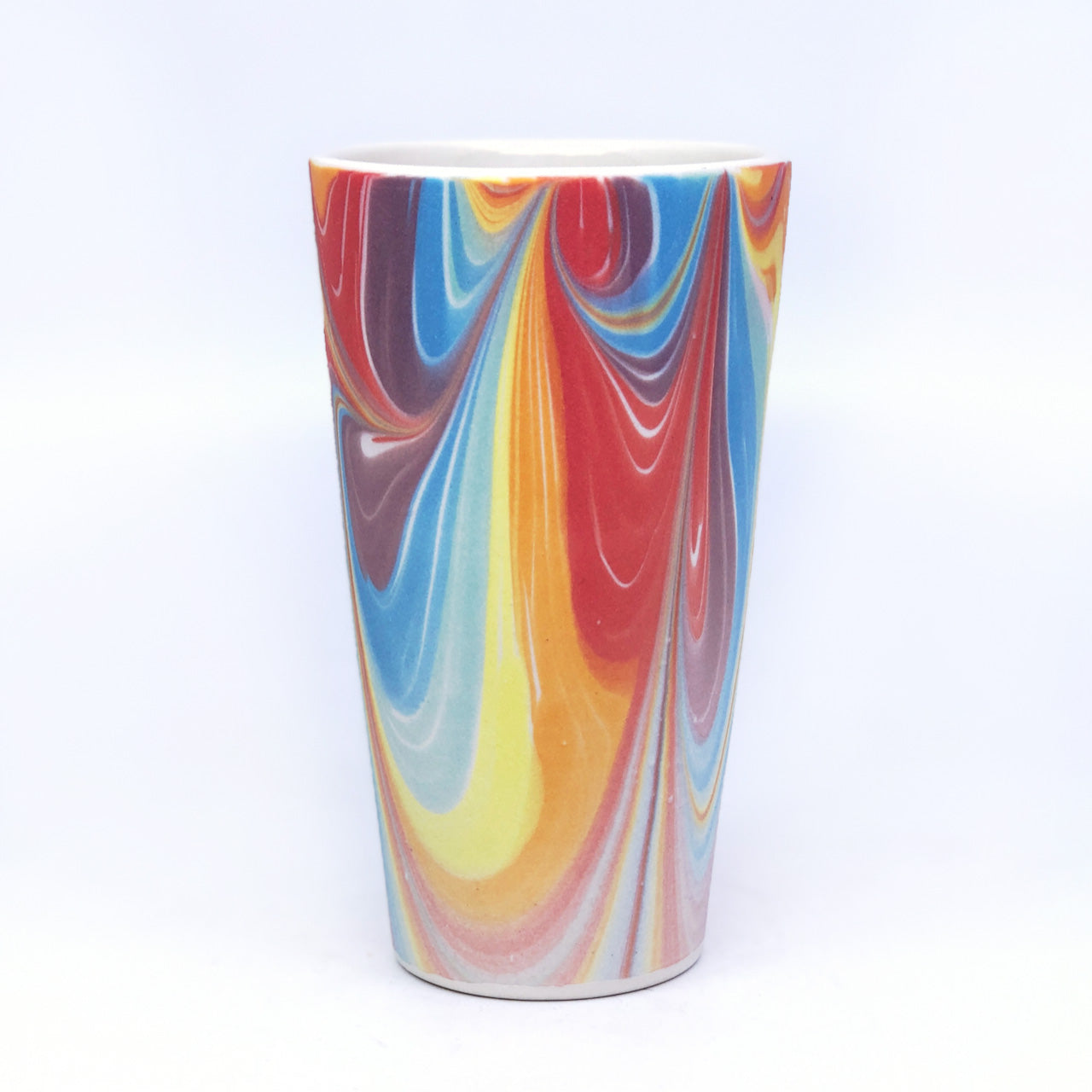 White Rainbow Feathered Pint