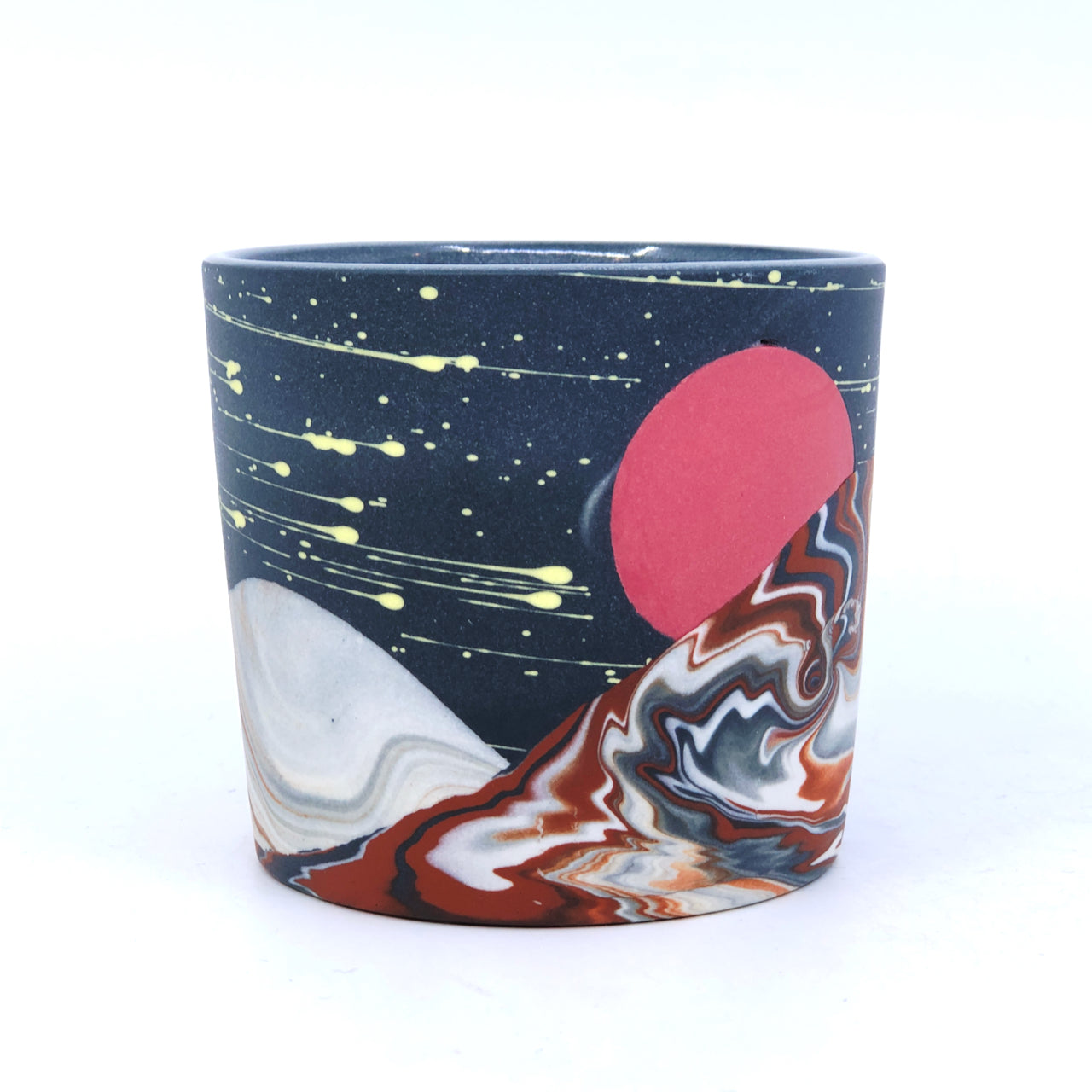 Black Mars Night Mountains Tumbler