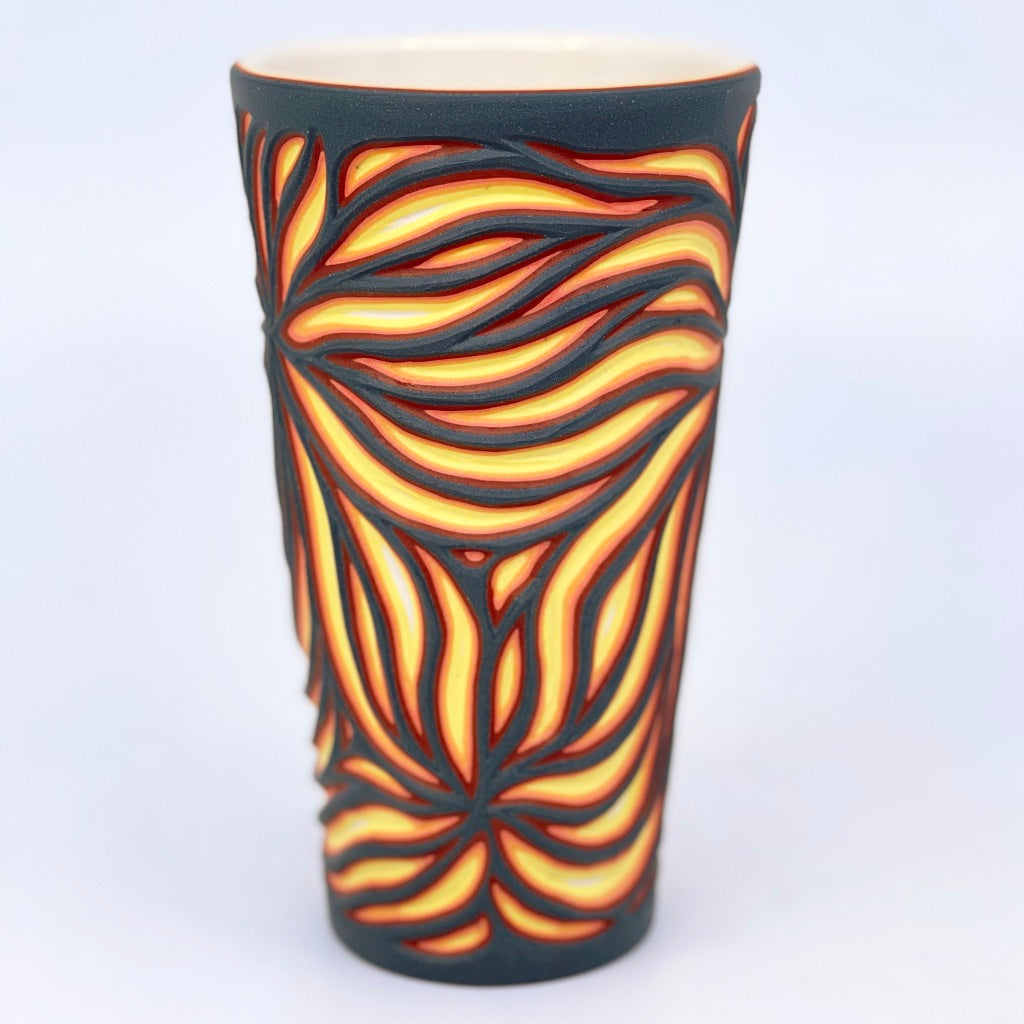 Lava Starburst Carved 5-Layer Pint