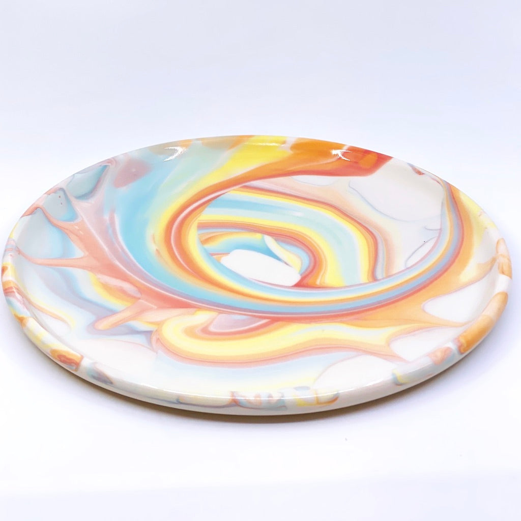 "**Preorder** White or Black ""One-Off Variable Design"" Rainbow Swirl (Estimated shipping late August)"