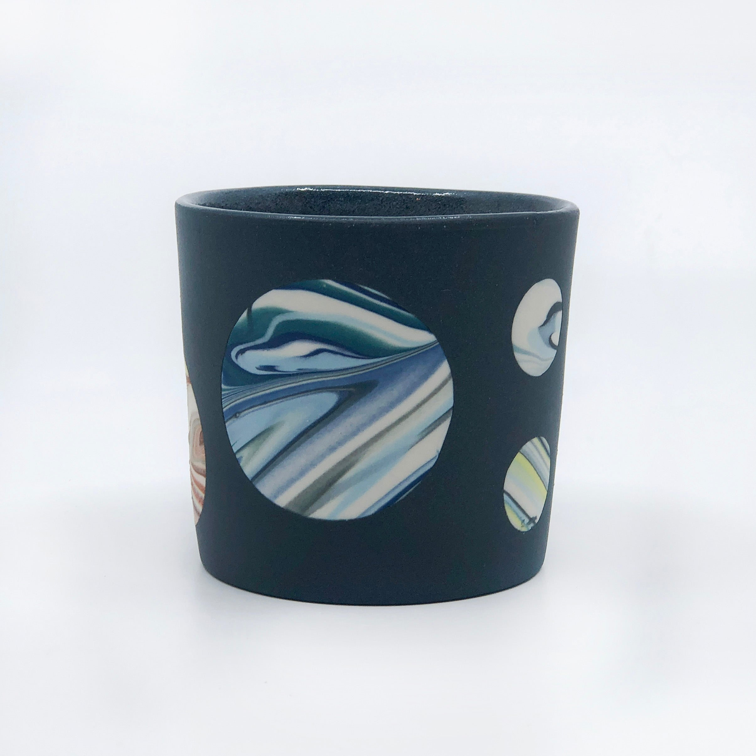 Planetary Series Tumbler With Rock (Black Orange Blue Yellow) for E.M.