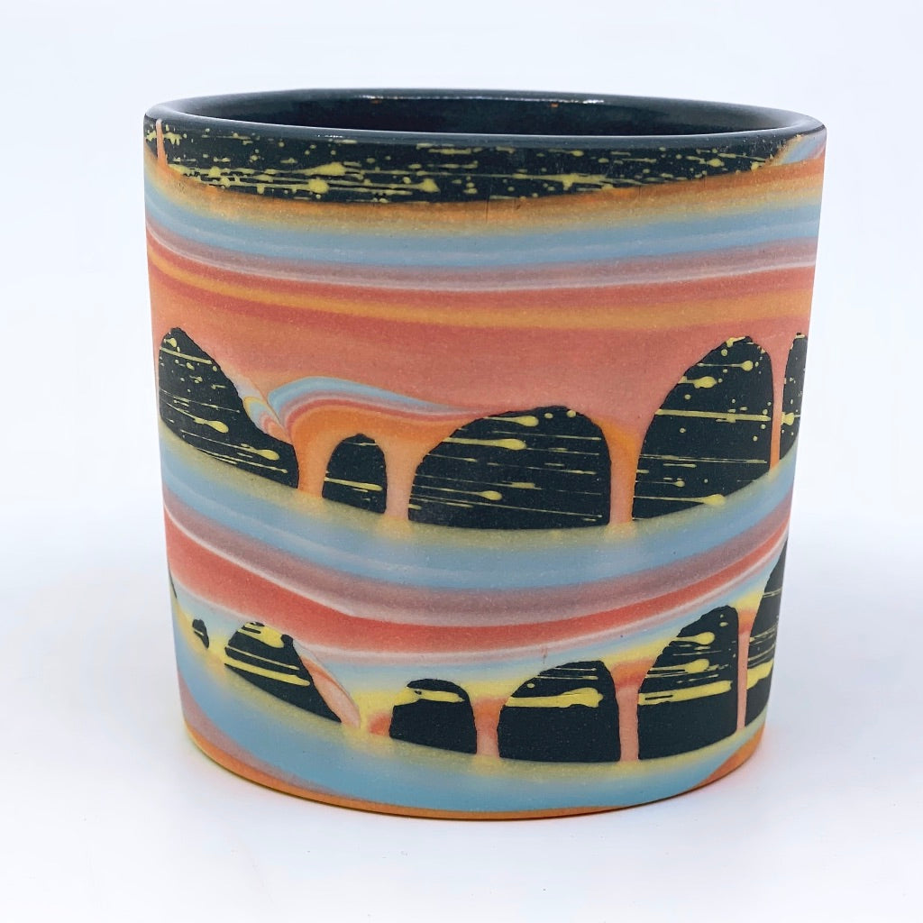 **Preorder**  Rainbow Space Arches Tumbler (w/ Gold Luster Rim Option) Estimated late July-August shipping
