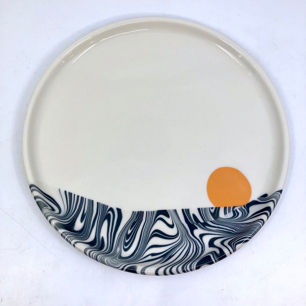 Feathered Landscape Plate
