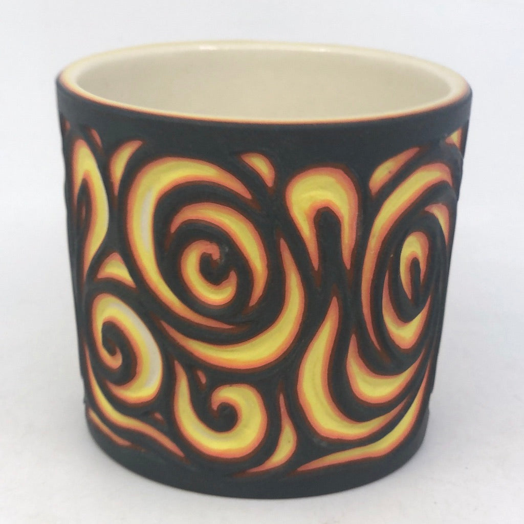 Lava Swirls- 6 Layer Carved Tumbler