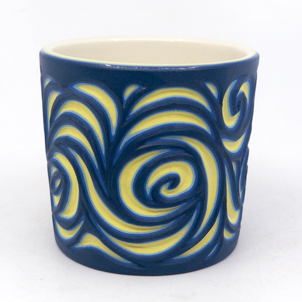 Starry Night 5-Layer Carved Tumbler