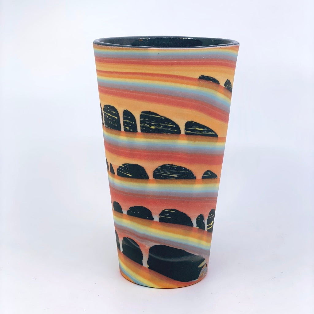 **Preorder** Rainbow Space Arches Pint (w/ Gold Rim option) Estimated Shipping late July-August