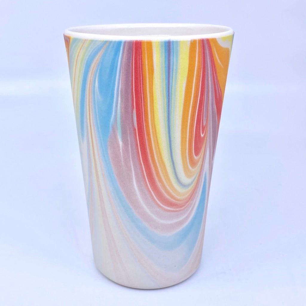 Rainbow Feathered Insulated Mug