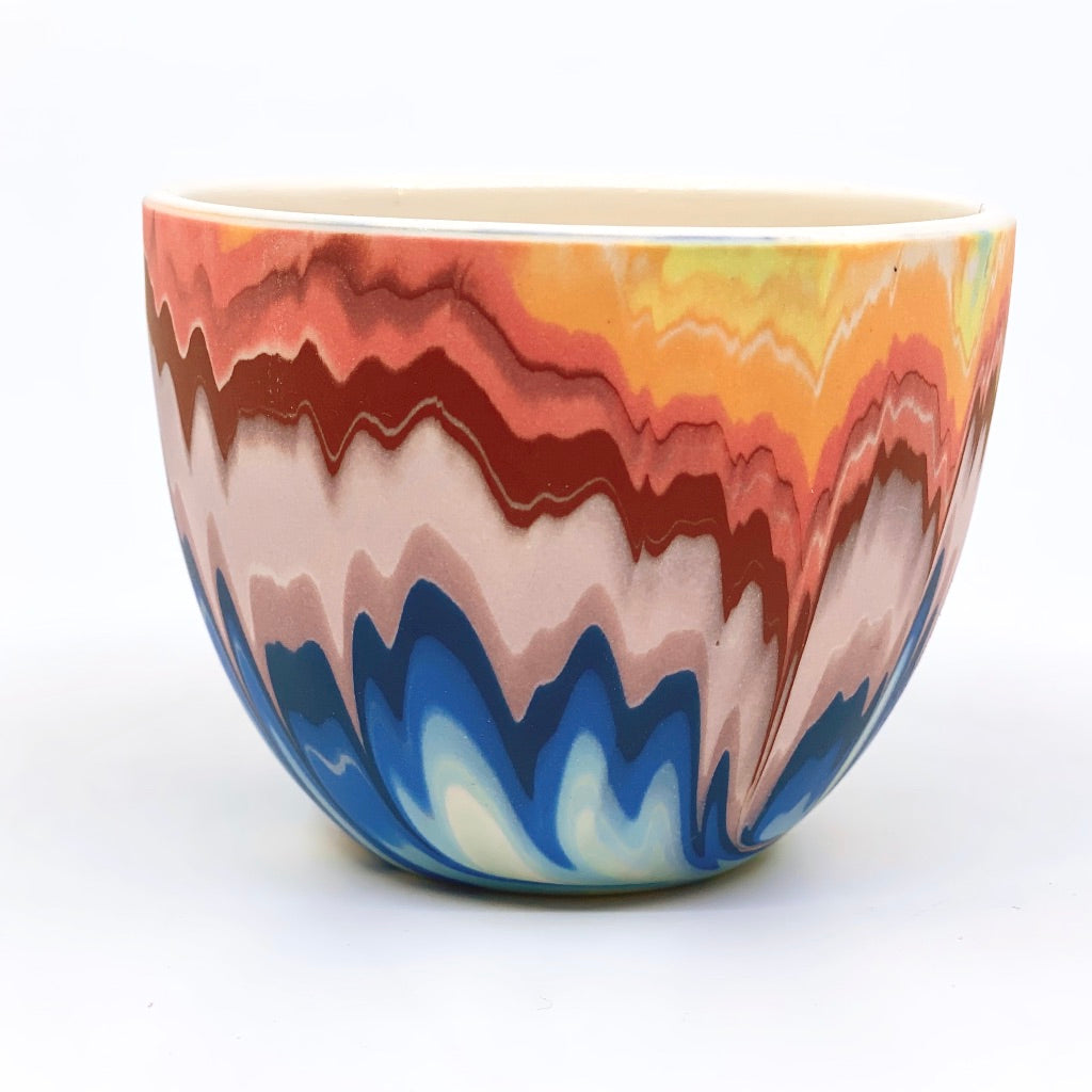 Teacup #7 Rainbow Marbled One-Off -White interior