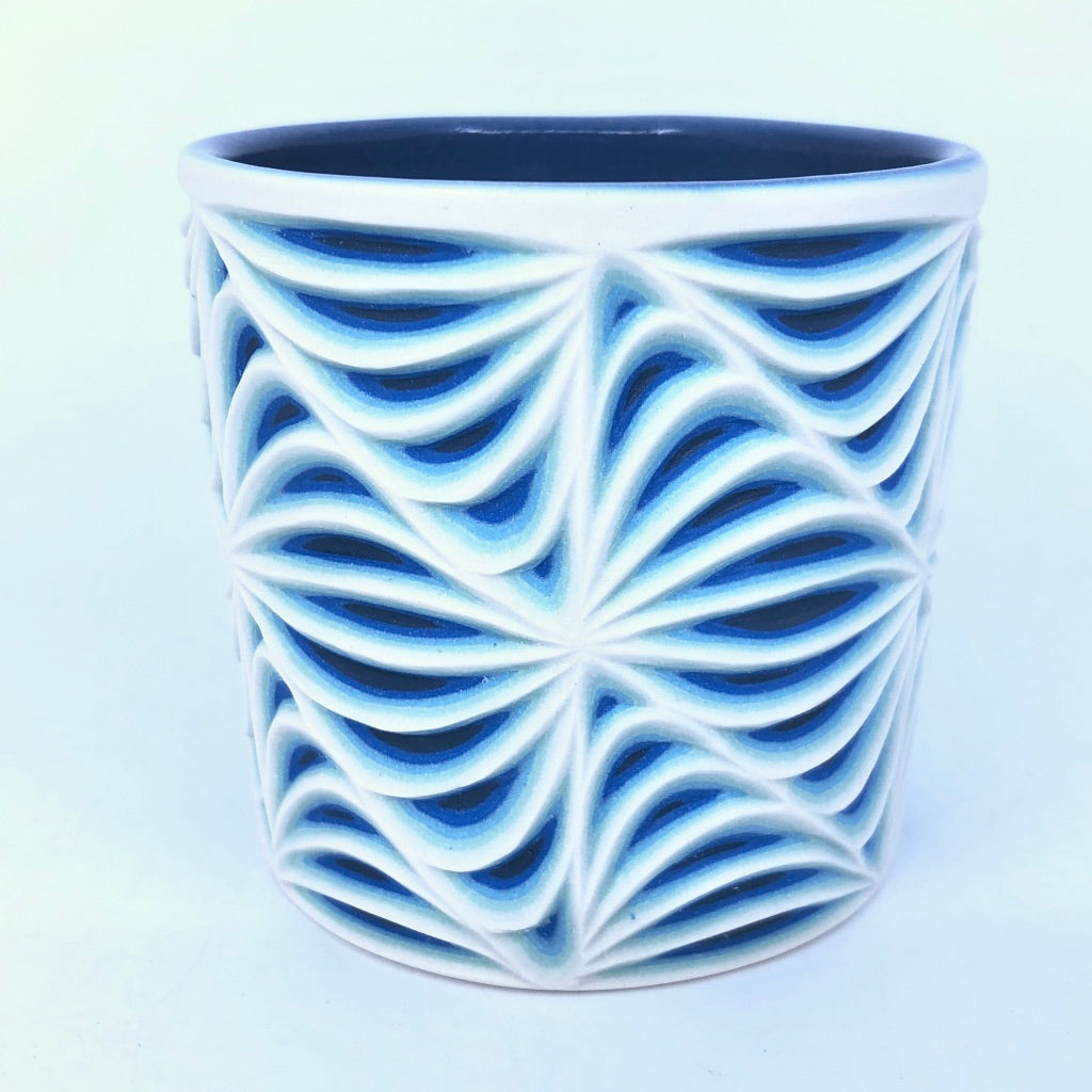Glacier Sound Wave Pattern 5 Layer Tumbler