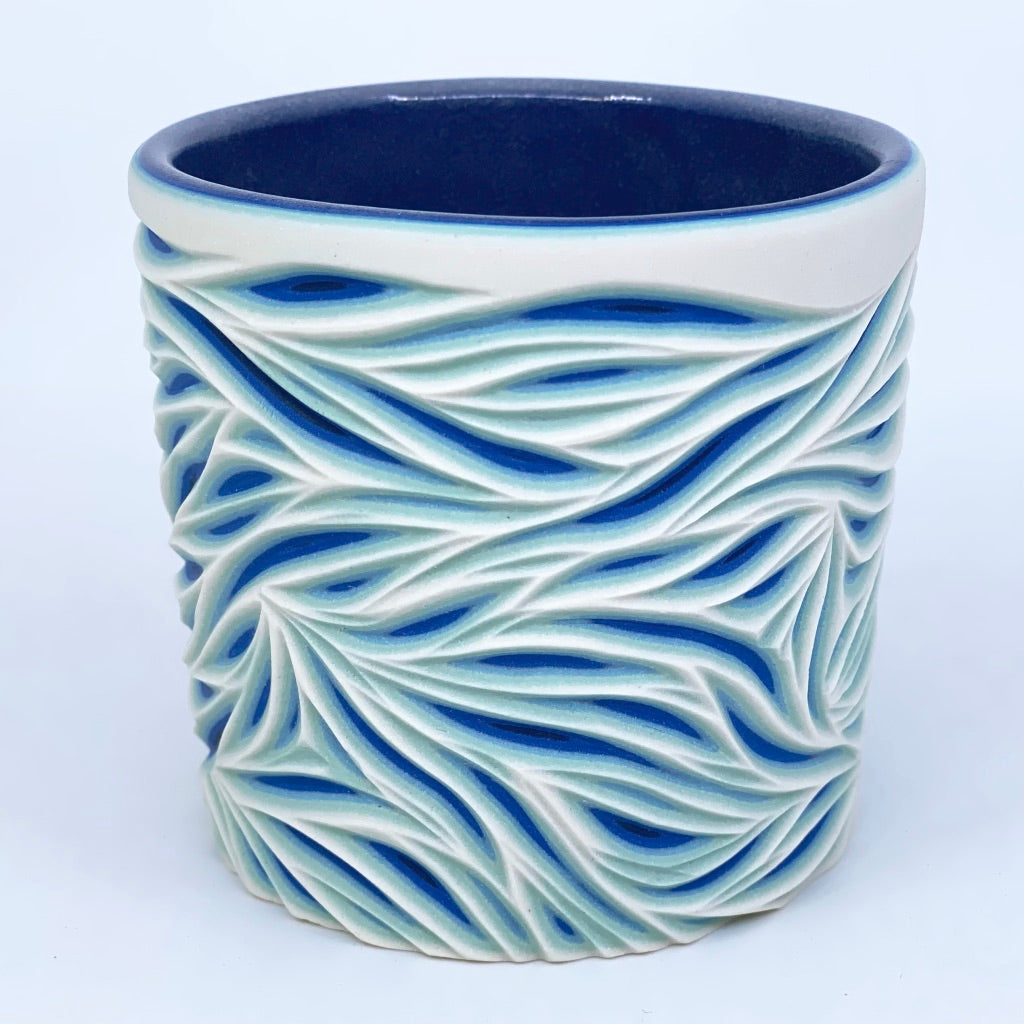 Glacier Intricate Carved Tumbler