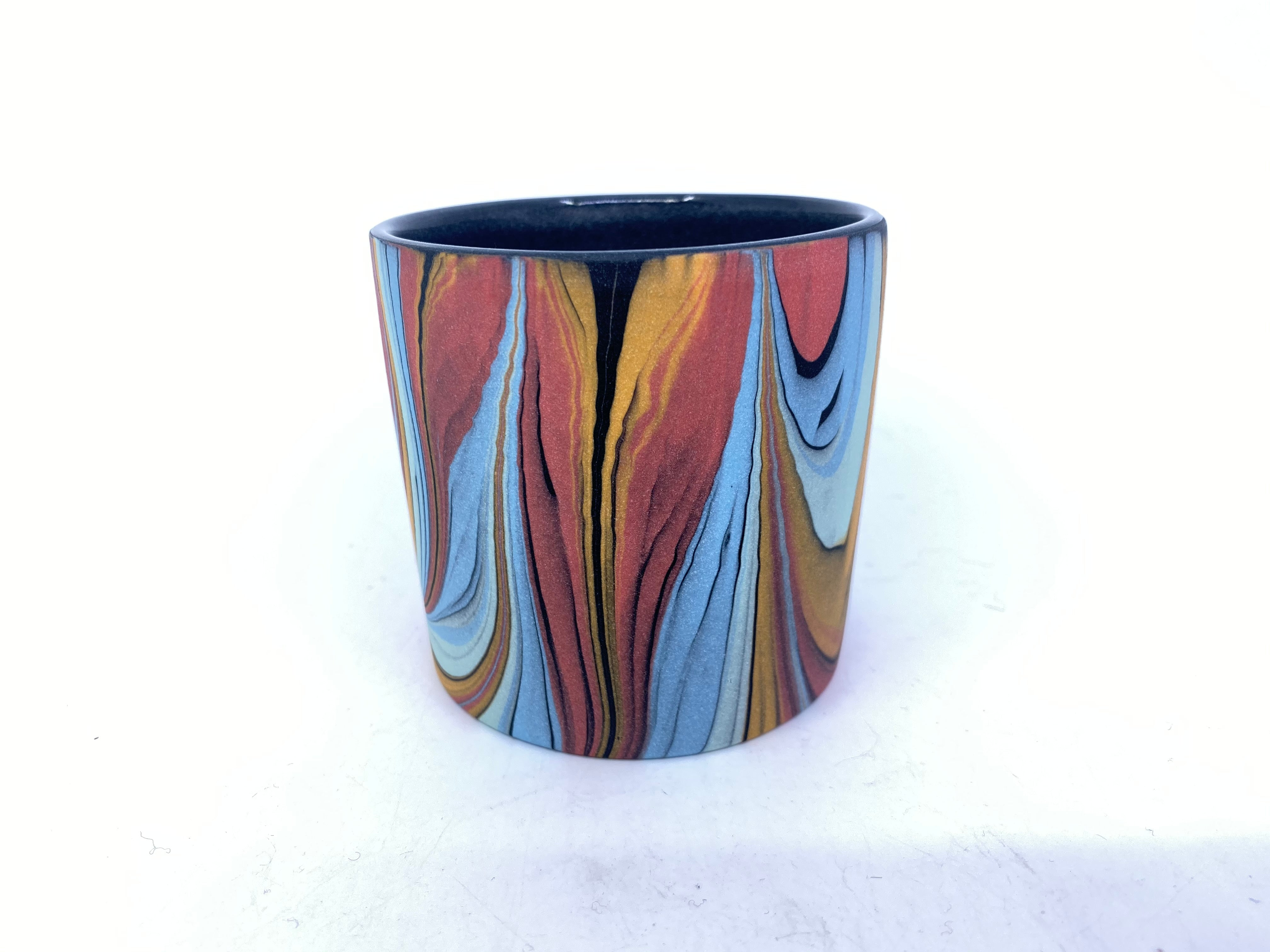 Feathers marbled tumbler