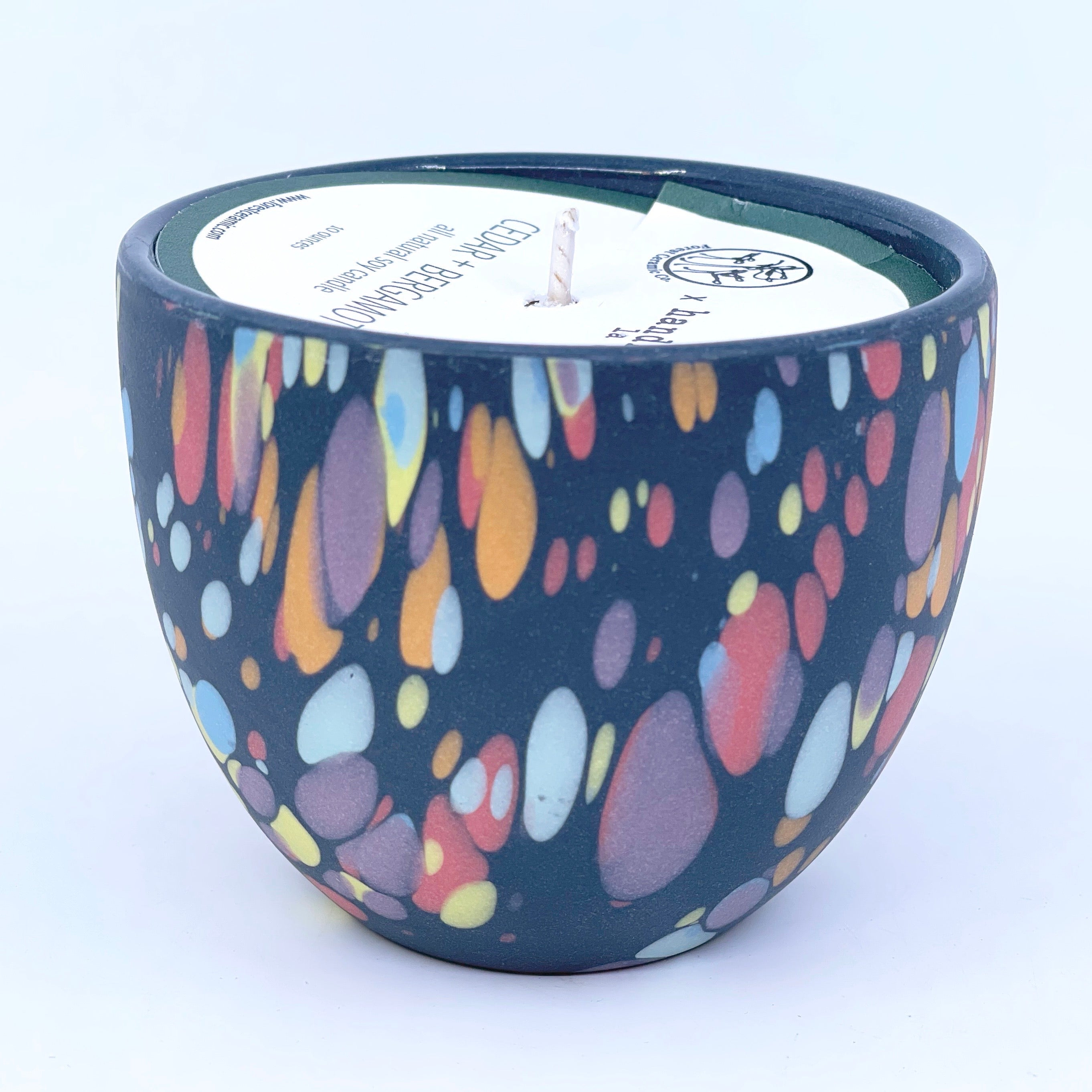 Dappled moon teacup Collaboration Candle