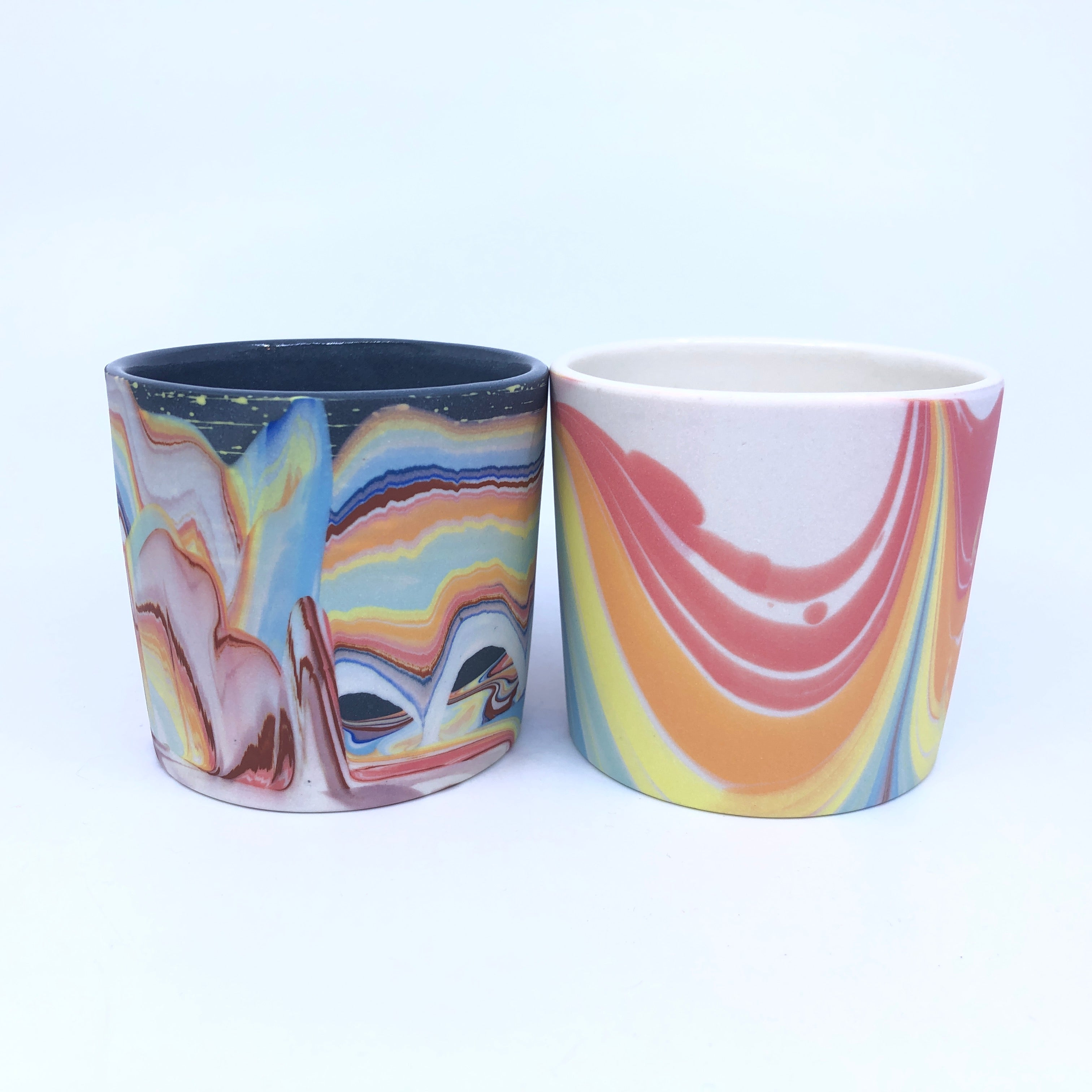 Two rainbow cups