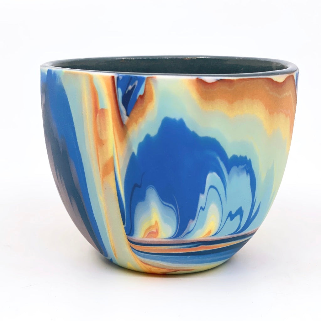 Teacup #2 Rainbow Marbled One-Off - Black Interior