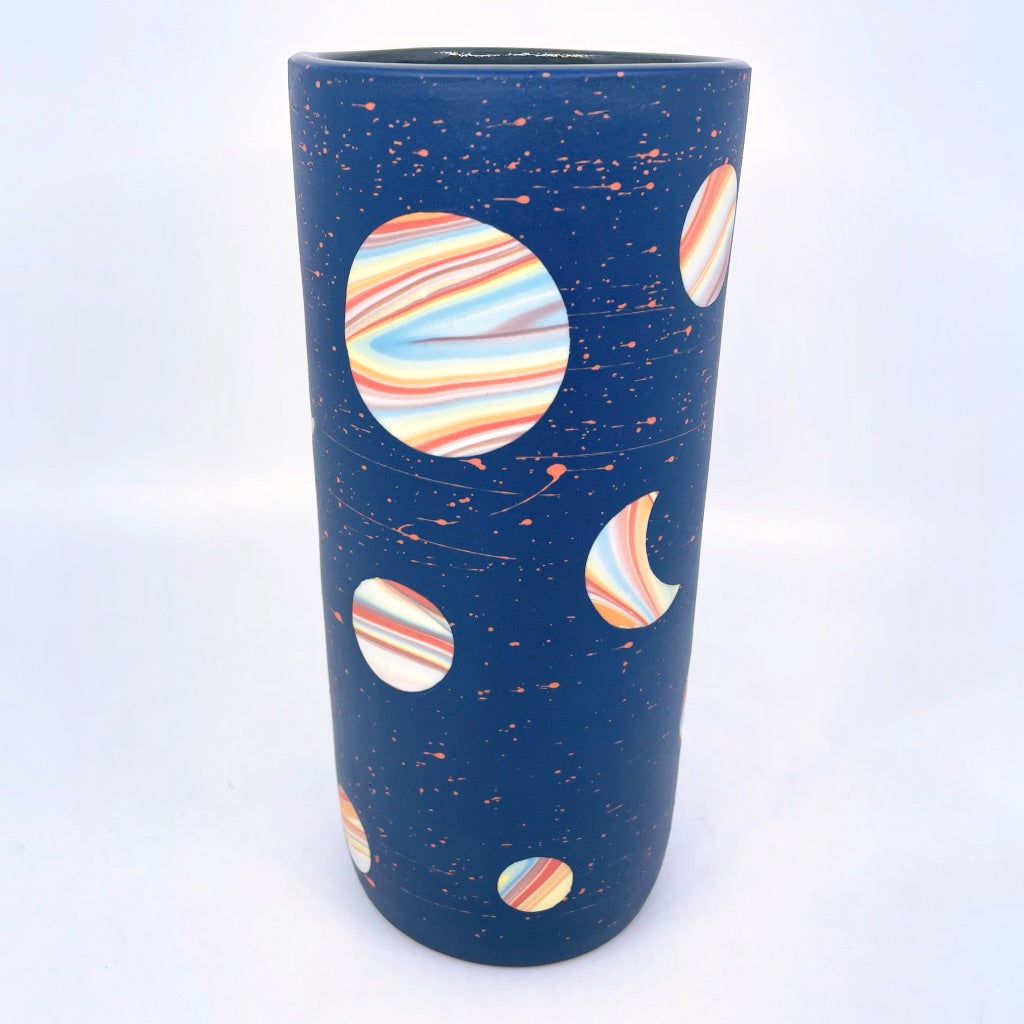 *Preorder* 2021 Cobalt Rainbow Galaxy Large Vase **EARTH DAY EXCLUSIVE**