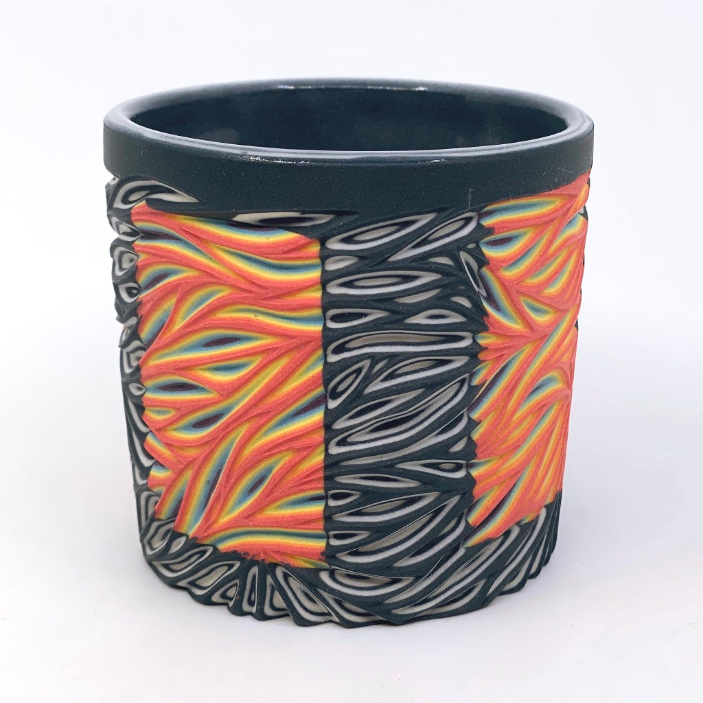 Hybrid Rainbow #3 - Intricate Carved Tumbler