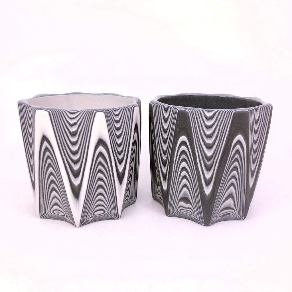 Black 27-Layer Zig Faceted Tumbler (8-Sides)