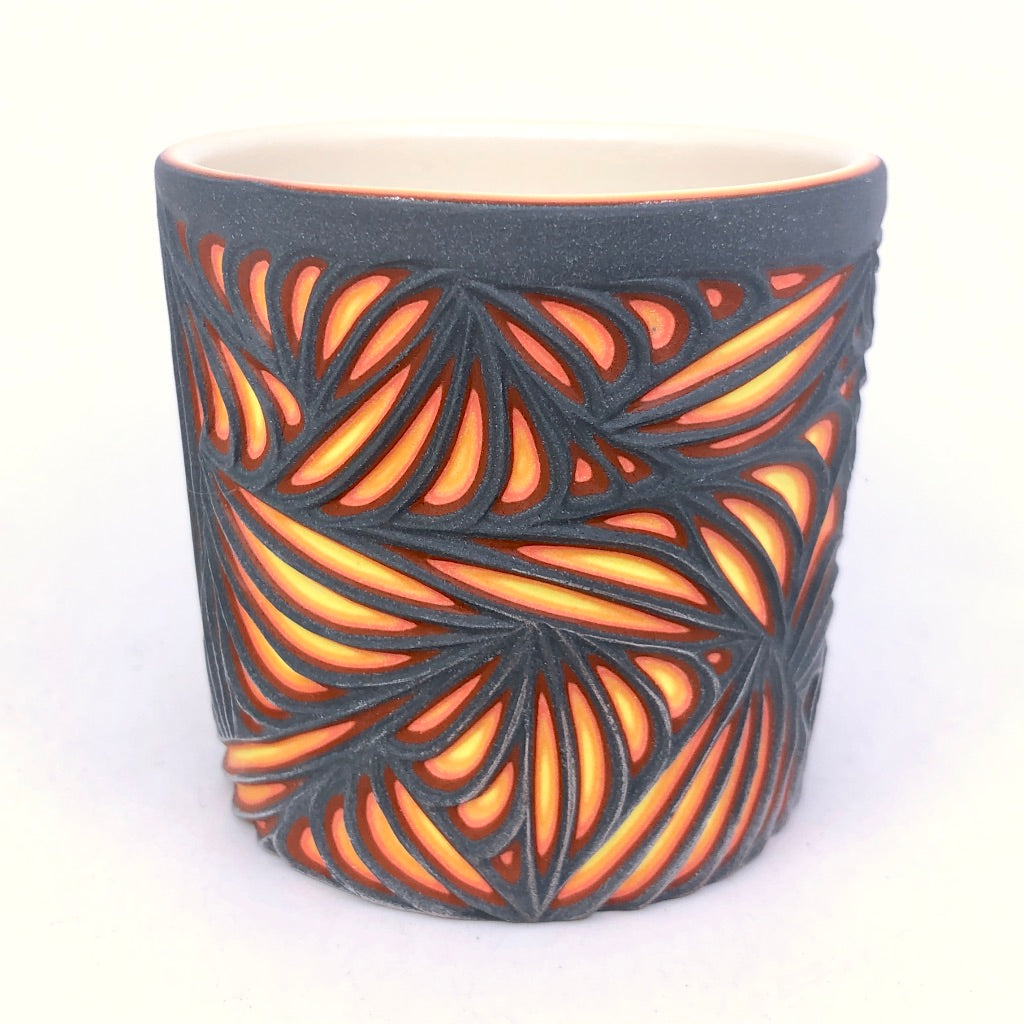 Lava Sound Wave 6-Layer Carved Tumbler