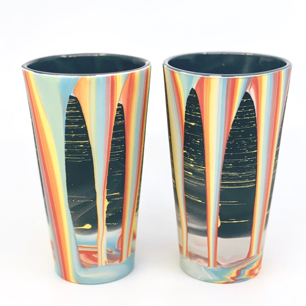 **Preorder** Rainbow Falls Pint (w/ Gold Rim option) Estimated Shipping late July-August