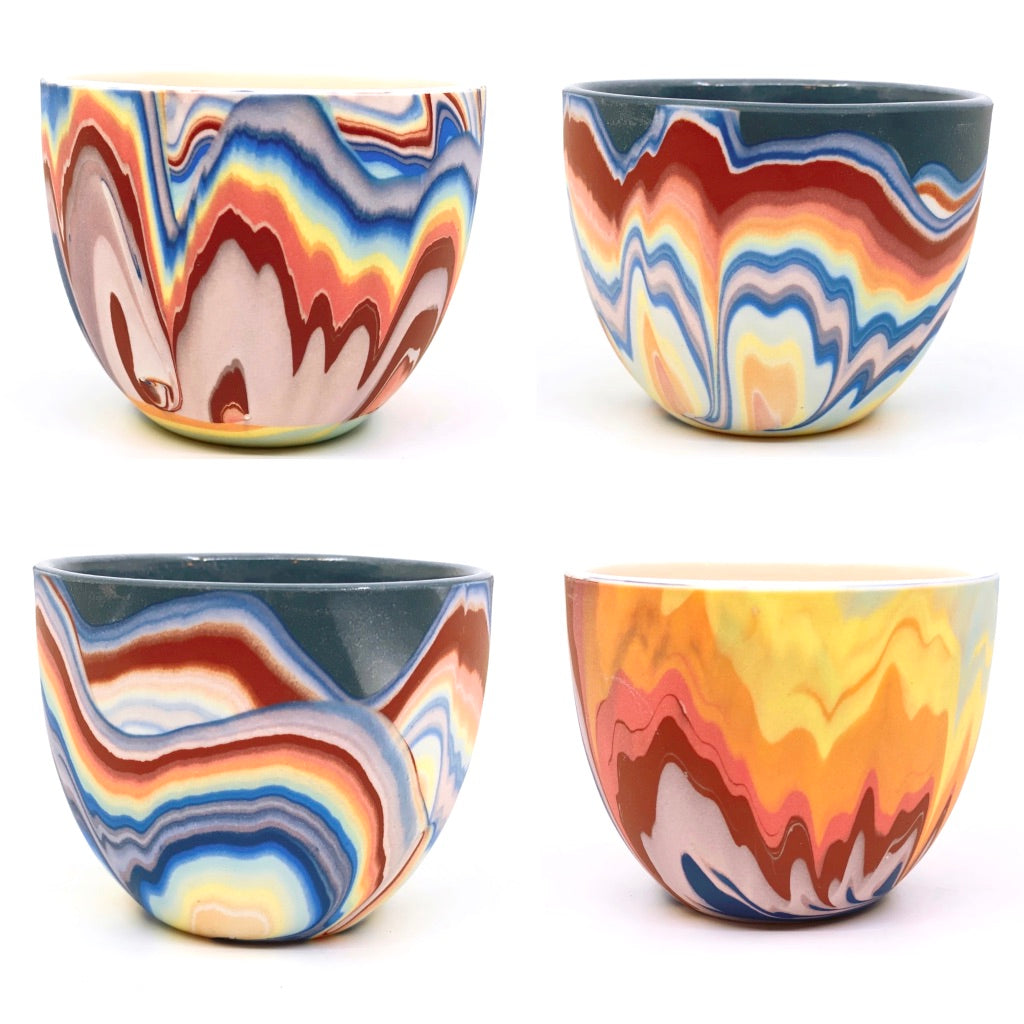**Preorder Variable Design**  Rainbow Splash Teacups Black or White options (Estimated Shipping July-August)