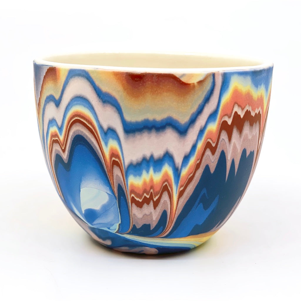 Teacup #3 Rainbow Marbled One-Off - White interior