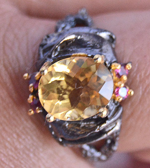 Citrine and Sapphires