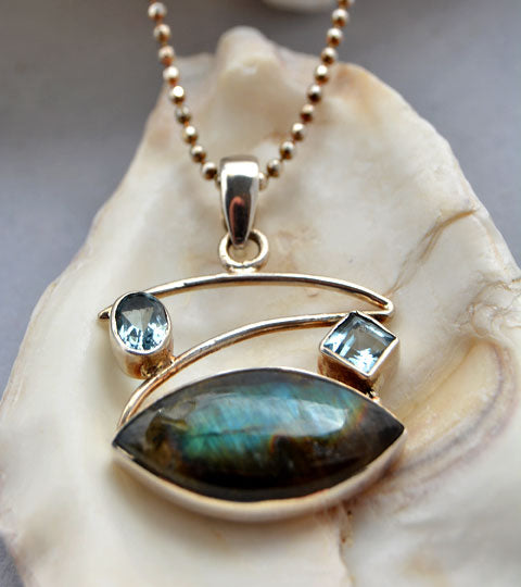 Labradorite and Blue Topaz