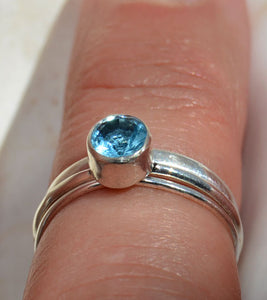 Topaz stacking ring