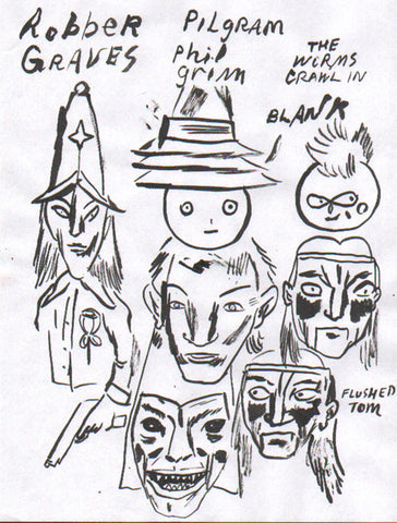 Untitled drawing by Brian Chippendale (robber graves)