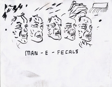 Untitled drawing by Brian Chippendale (faces)
