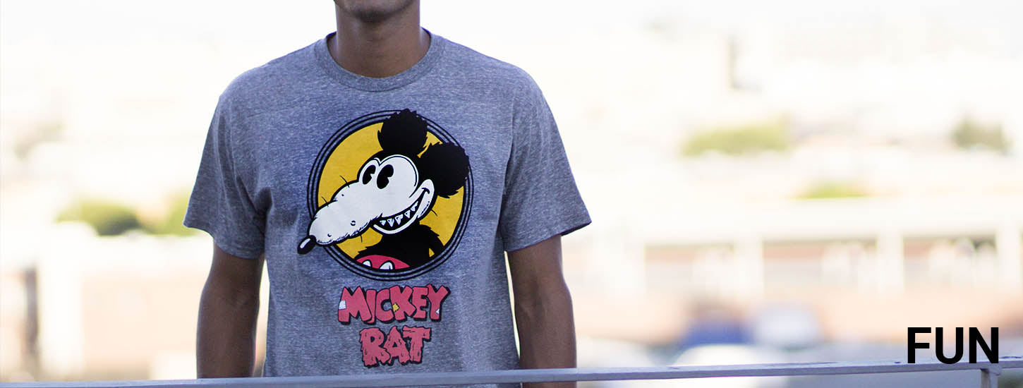 Altru fun Mickey Rat and other mens graphic T-Shirts