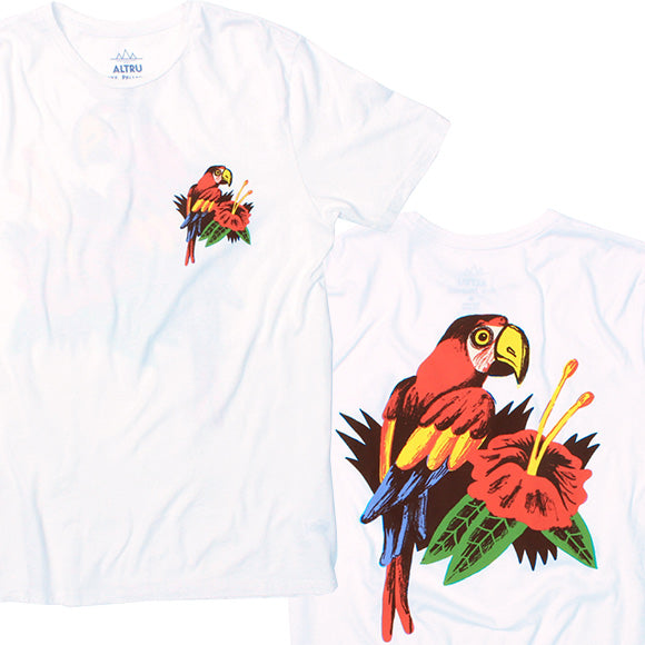 Luke Pelletier Parrots Shirt front and back