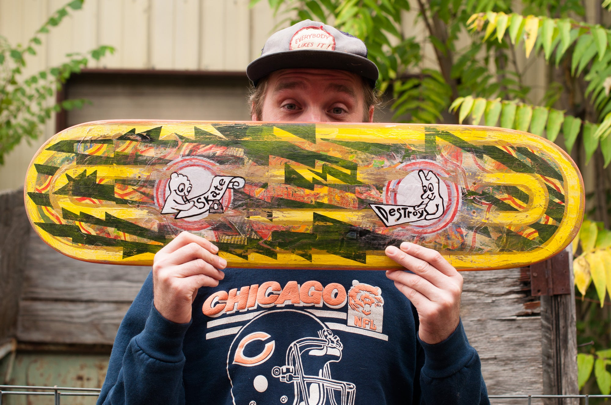 Mason Mcfee interview photo with skateboard