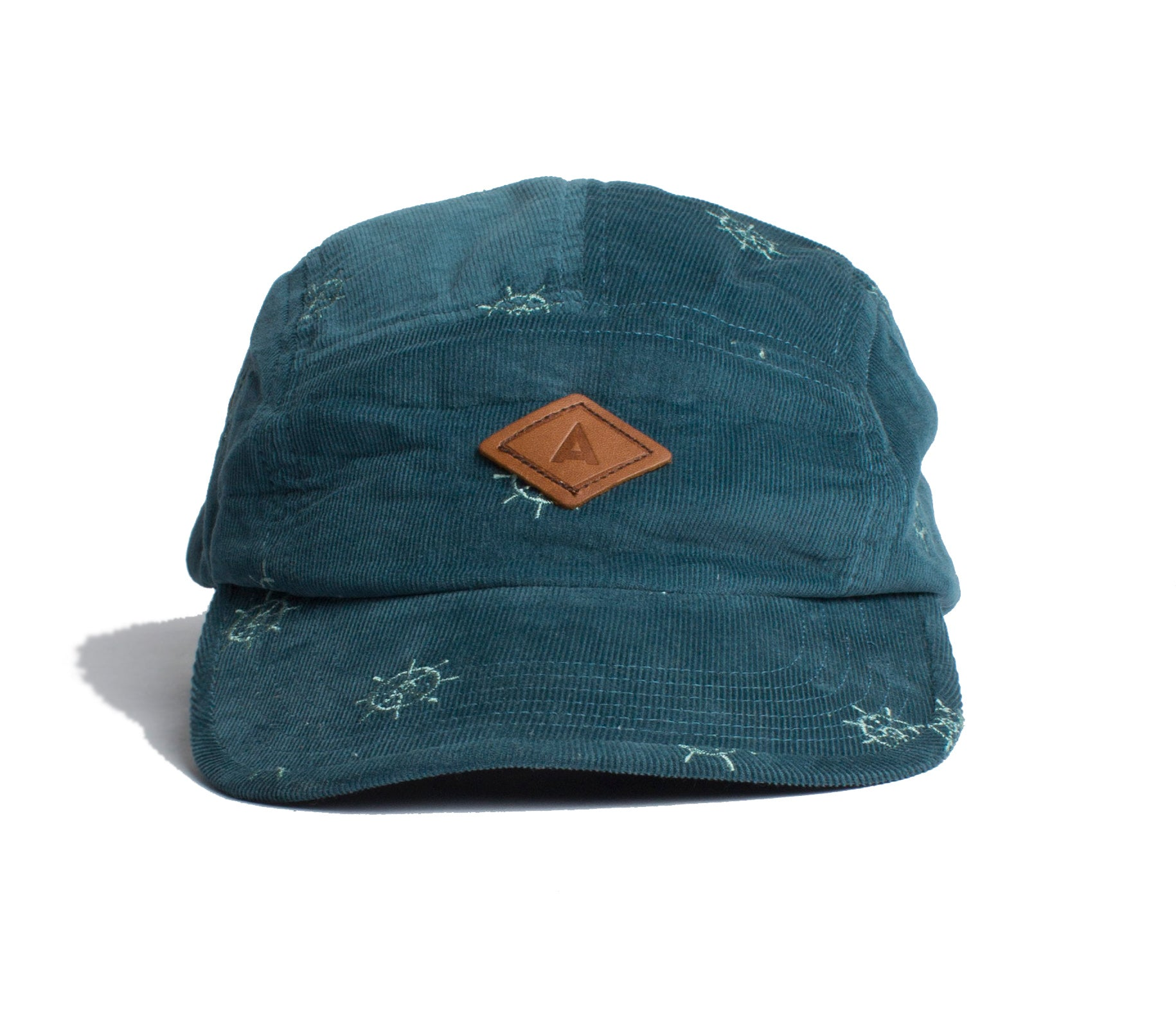 Nautical Wheel Corduroy Cap