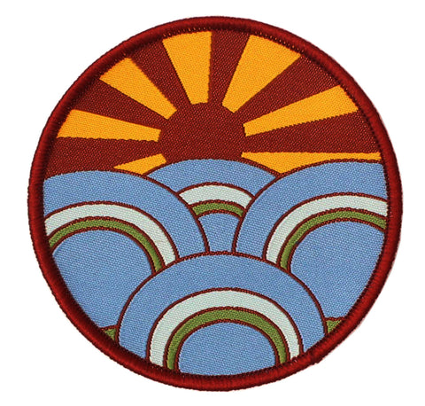 ALTRU PATCH: SUNBURST: WOVEN & EMBROIDERED