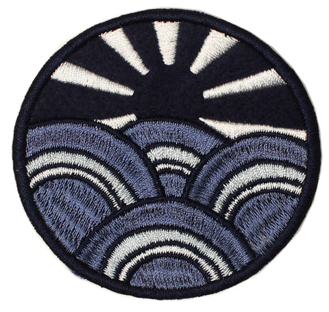 PATCH: SUNBURST BLUE: FELT & EMBROIDERED