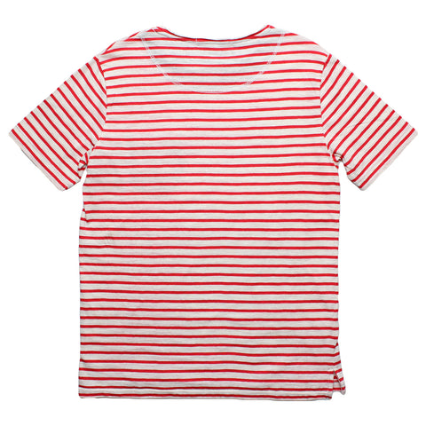 Altru Apparel Red Stripes with contrasting Pocket T-shirt back