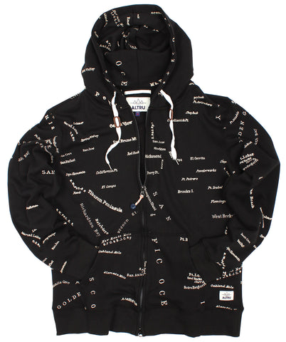 Altru Apparel San Francisco City Map Zip Hoodie